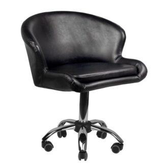 krzeslo kosmetyczne lady czarne